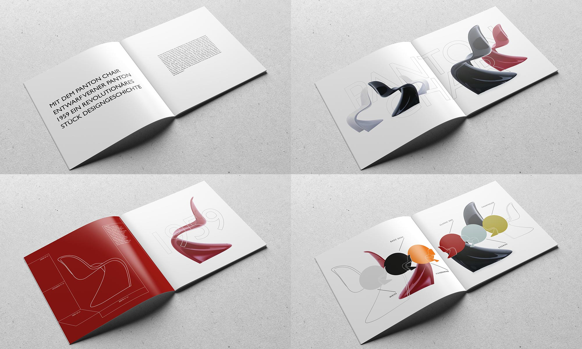 Grafikdesign Editorial Design Verner Panton Chairs