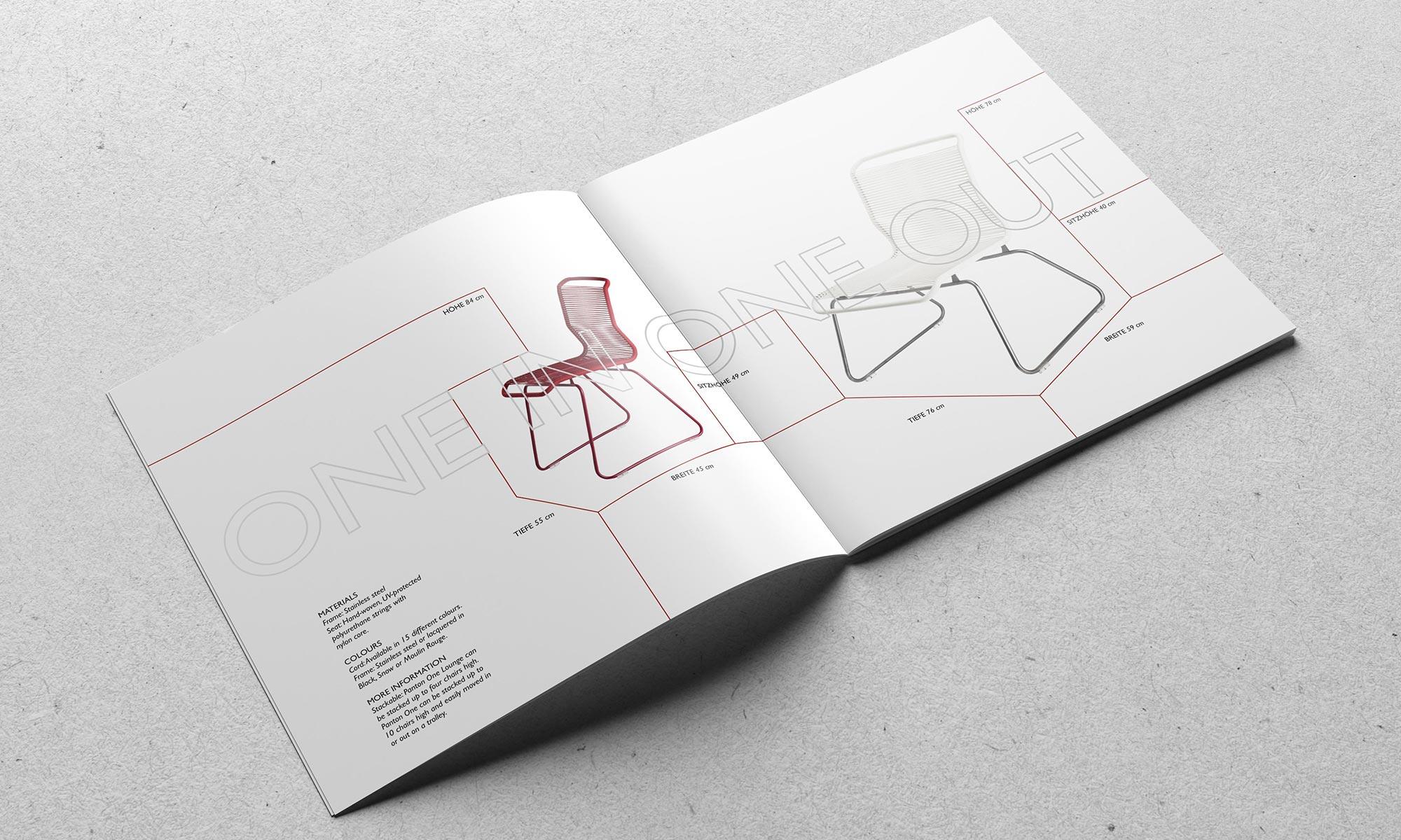 Grafikdesign Editorial Design Katalog Möbeldesign  Verner Panton  Chairs