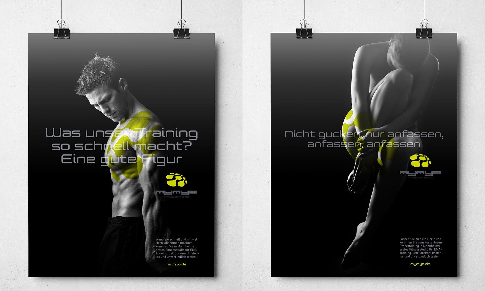 Corporate Identity Design Plakate Fitnessstudio