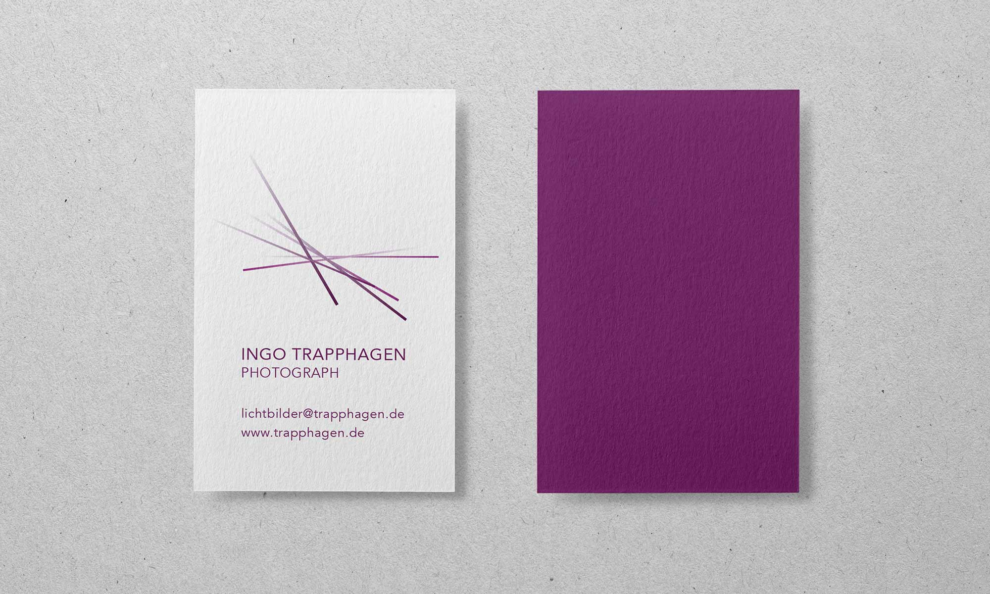 Corporate Design Photograph Visitenkarte