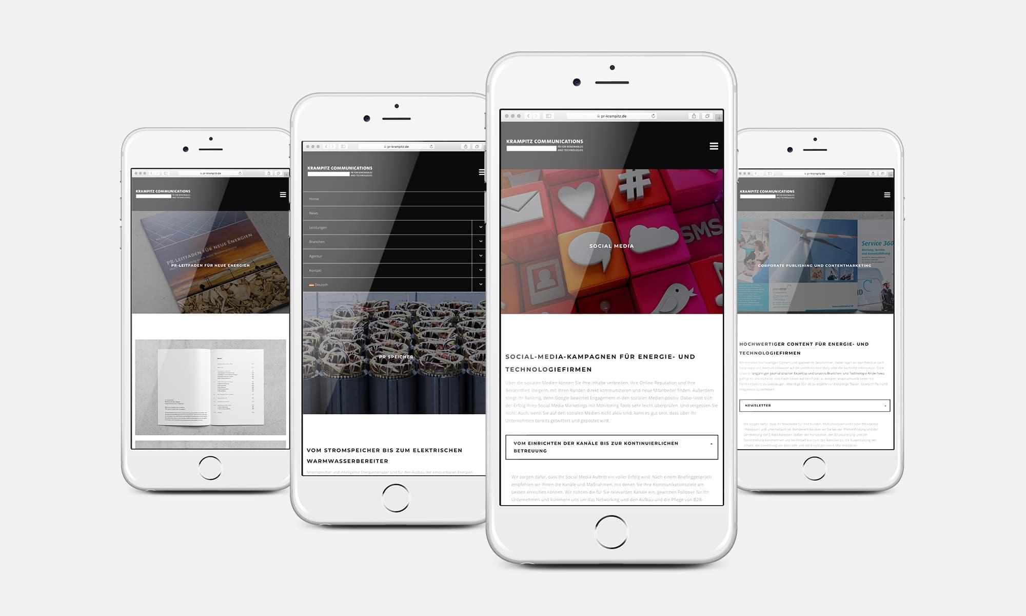 PR-Agentur Website Mobil