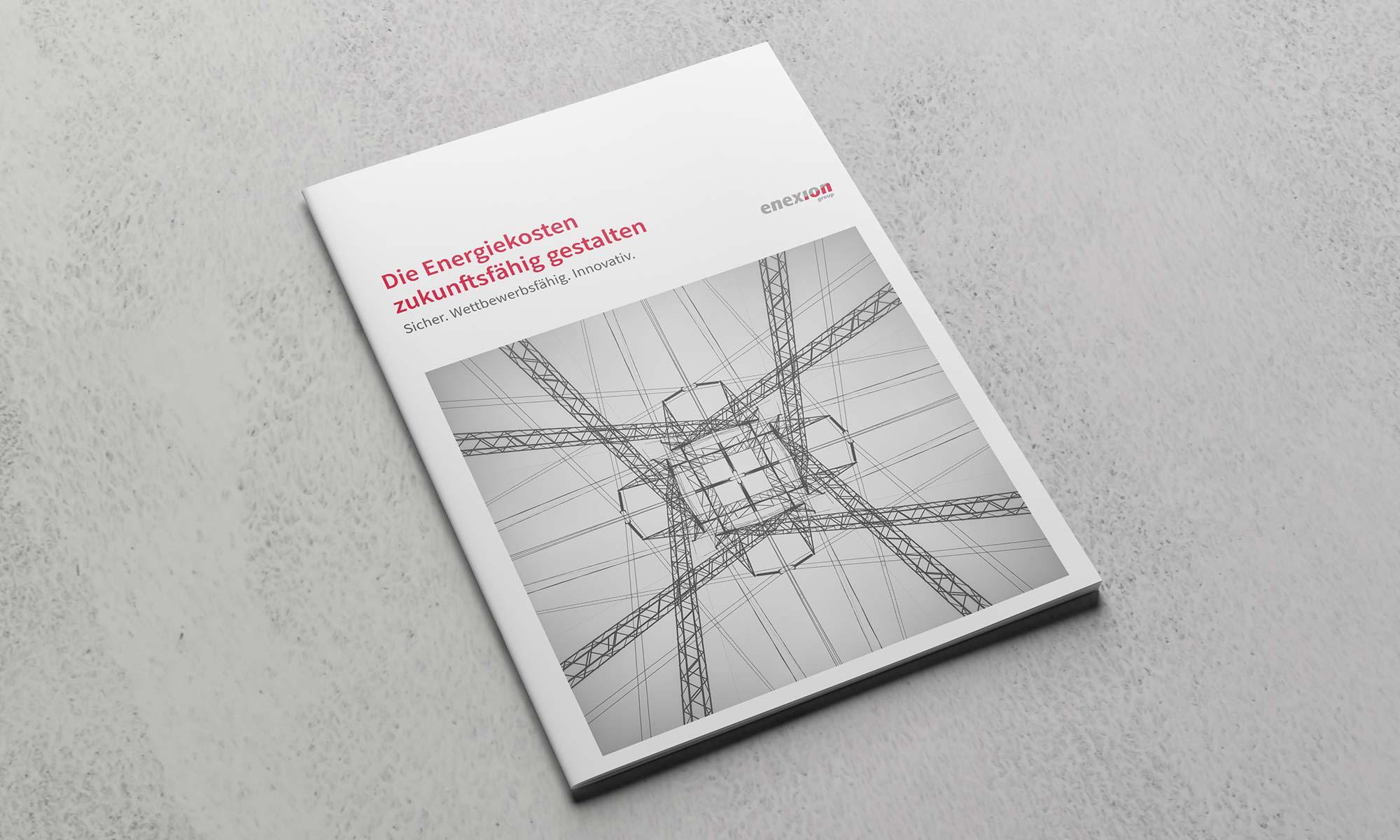Editorial Design Broschüre Energiemarkt Titel
