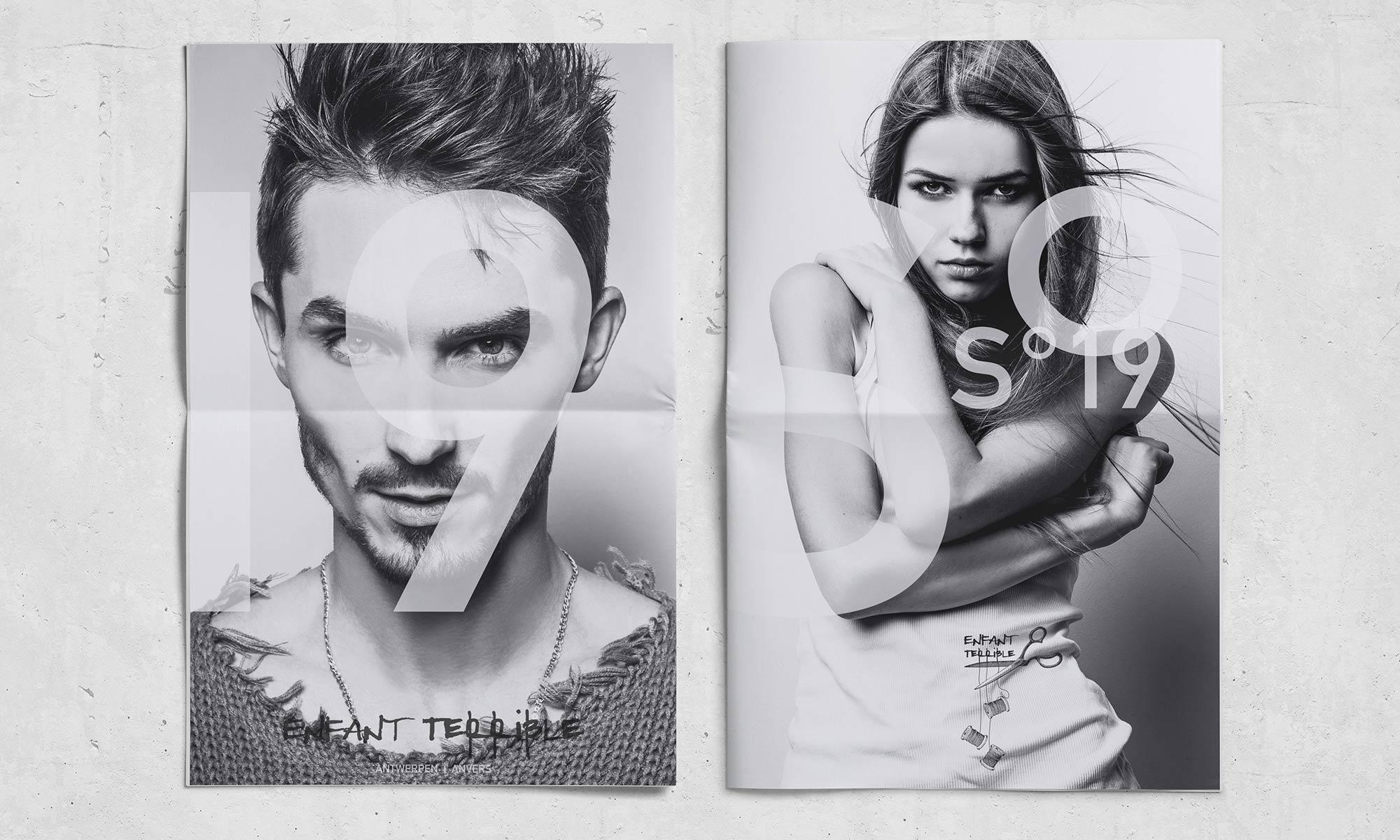 Corporate Identity Mode enfant-terrible-S19-Zeitung Titel und Rückseite