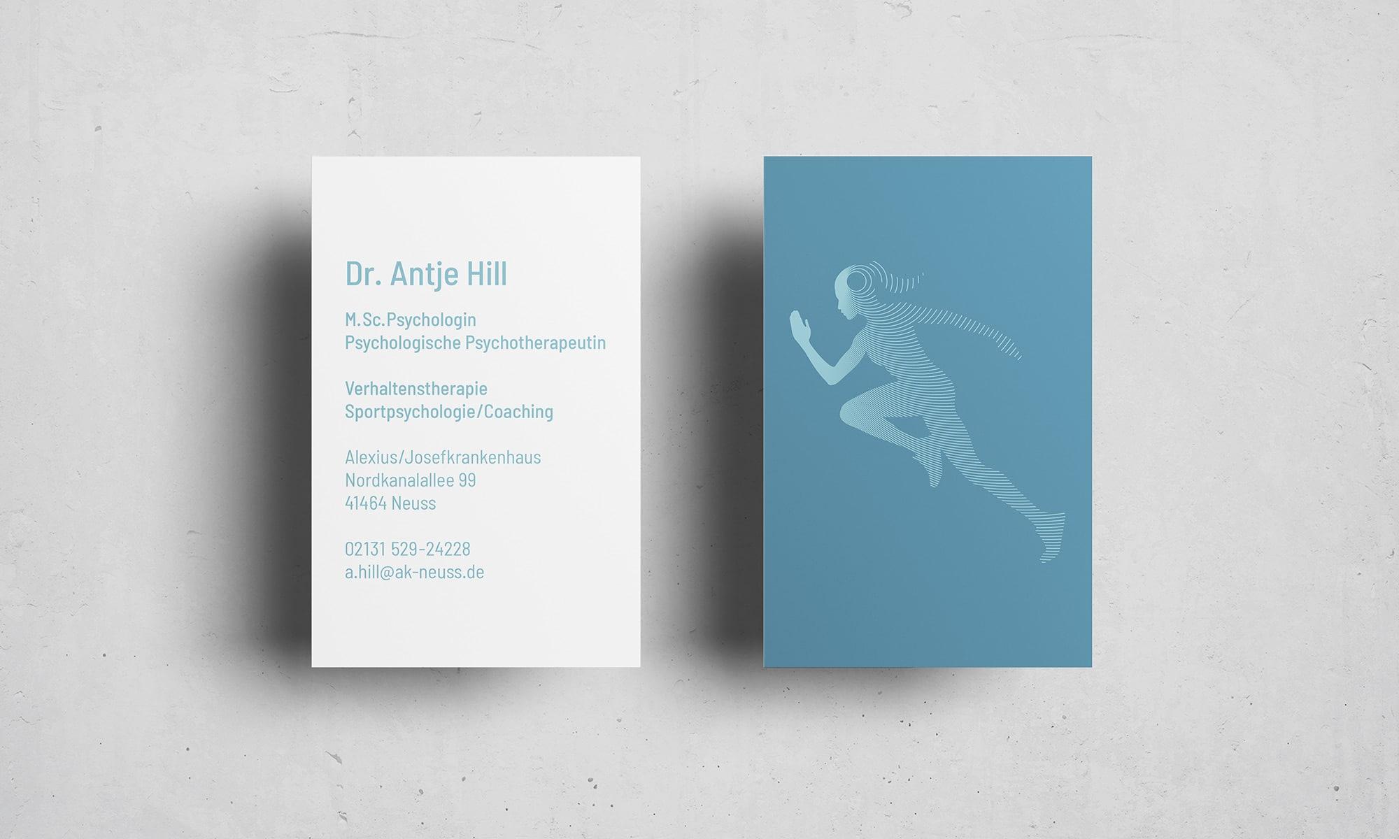 Sportpsychologie Logo Visitenkarte-Design