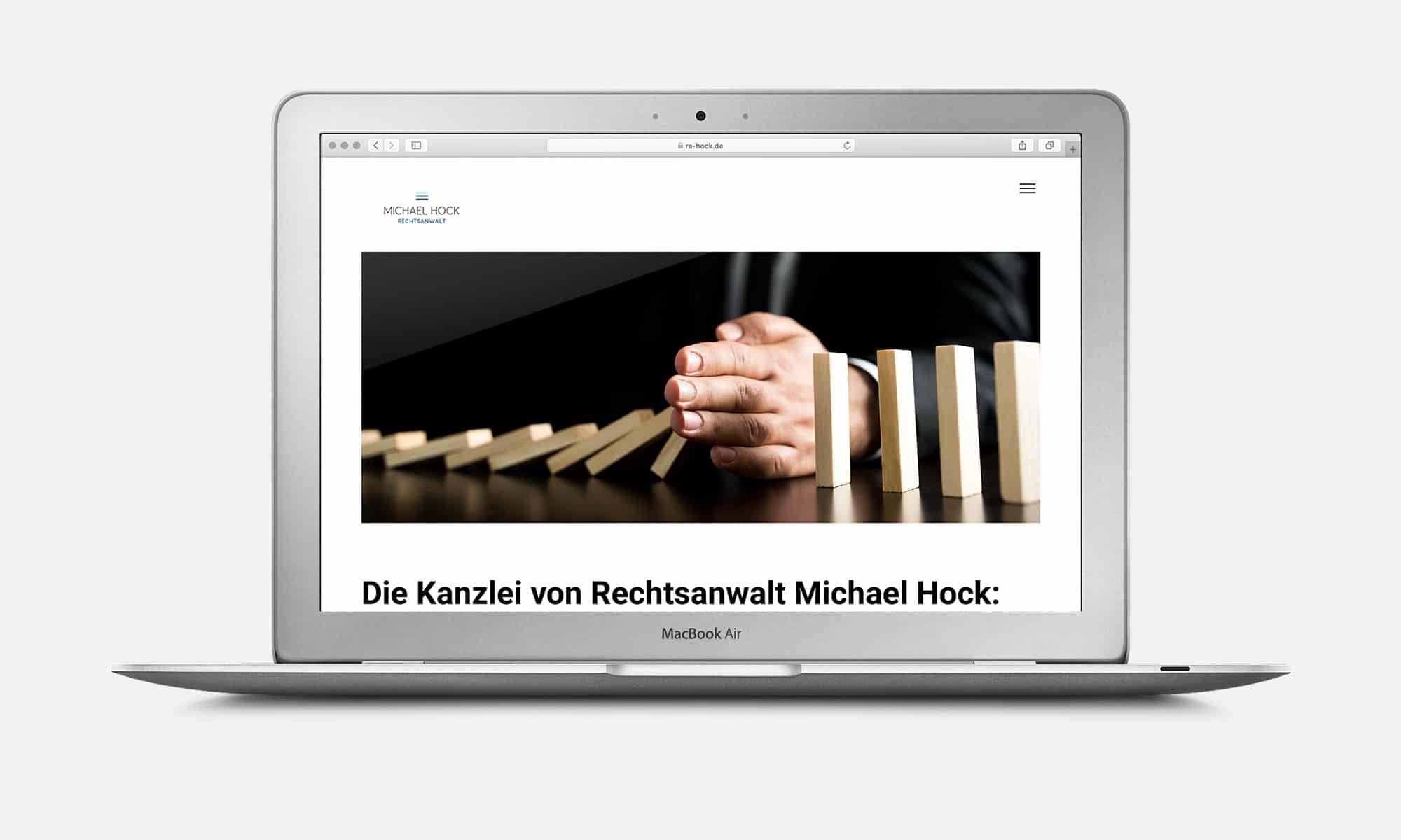 Webdesign Rechtsanwalt Home
