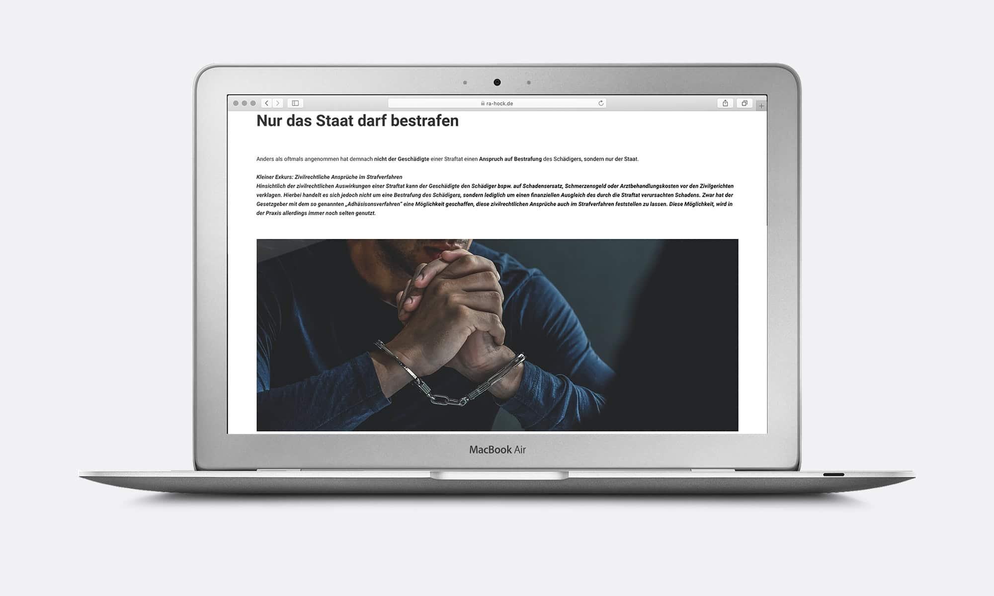 Webdesign Rechtsanwalt Strafrecht