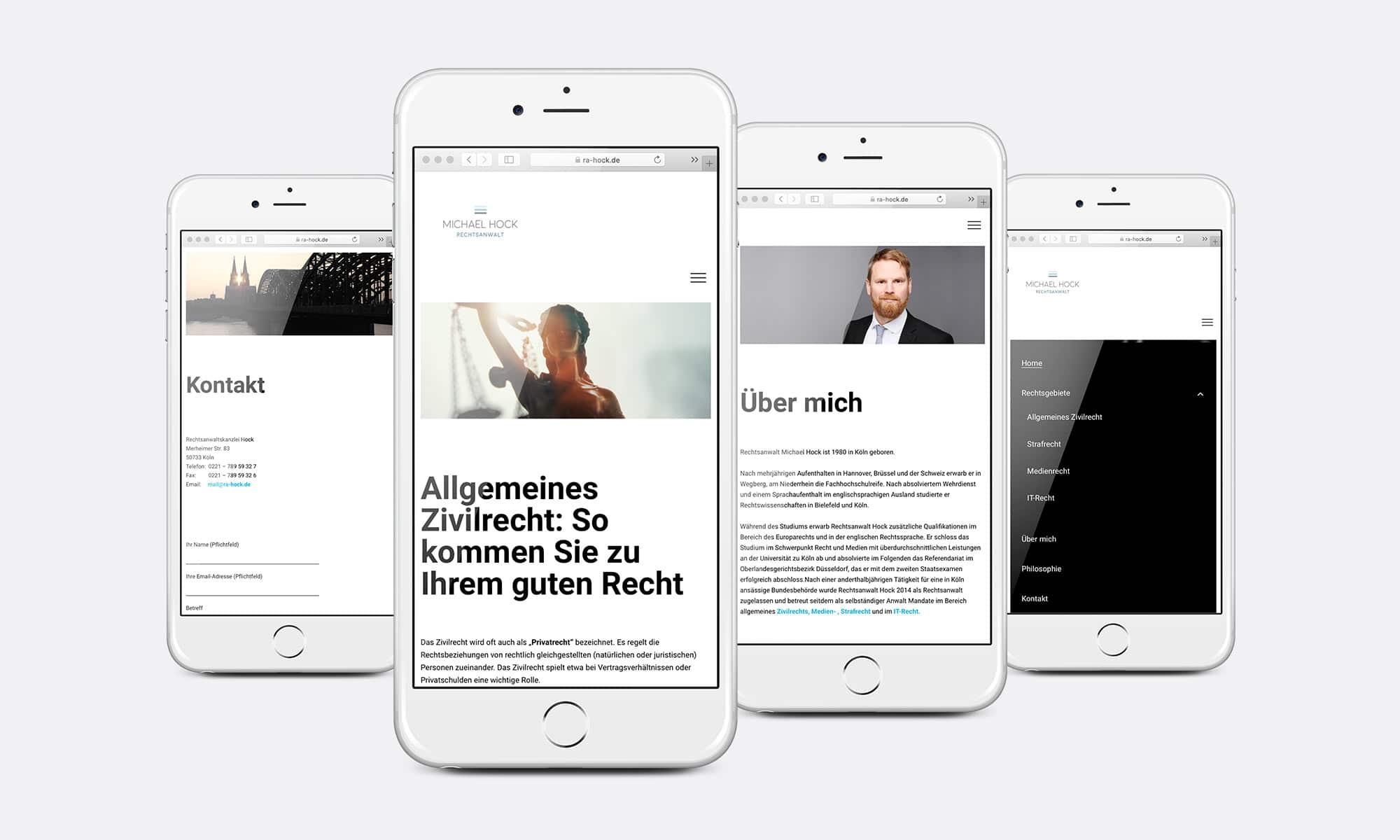 Webdesign Rechtsanwalt Mobil
