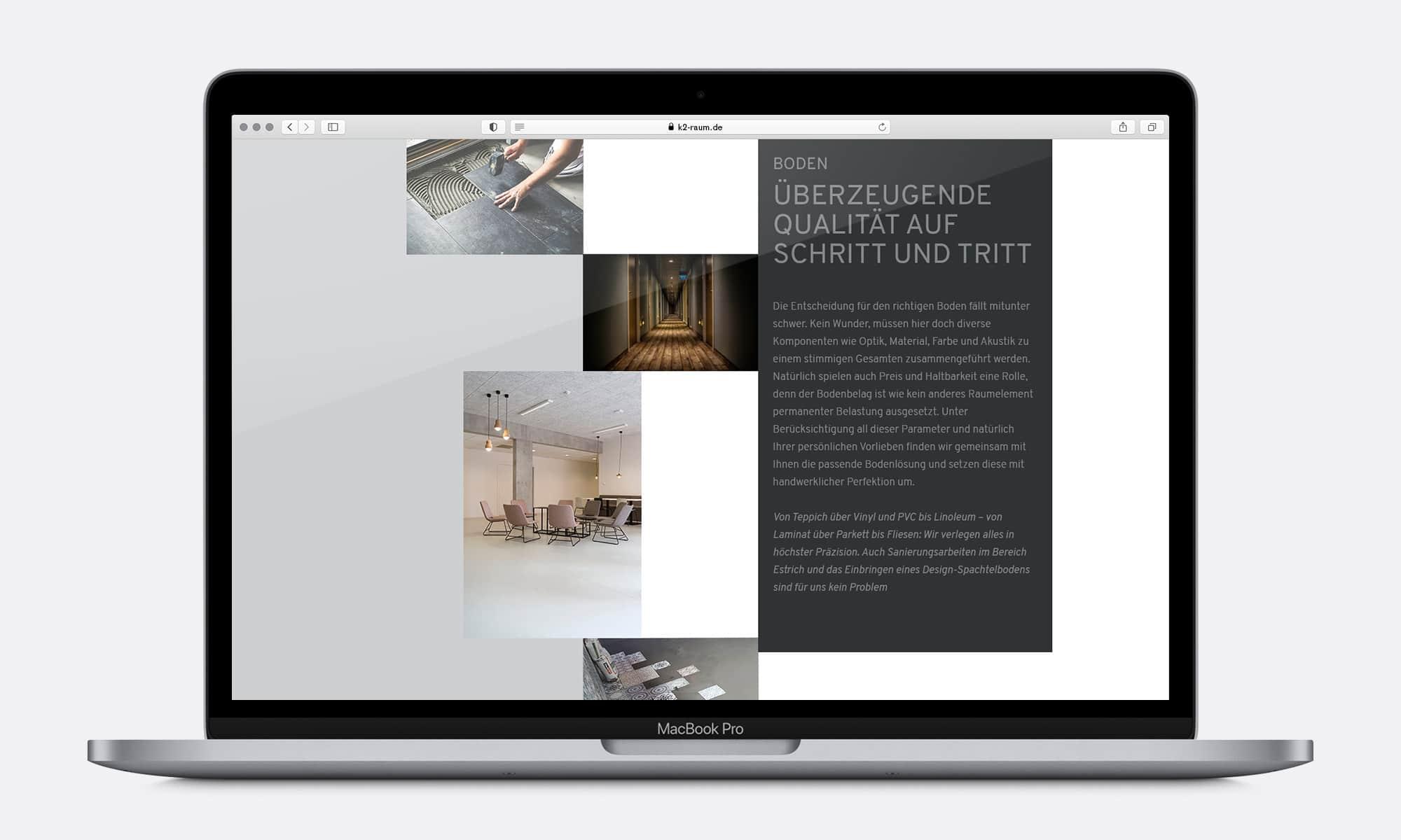 Raumausstattung Boden Website